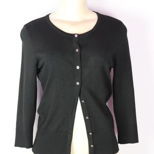 WHITE HOUSE BLACK MARKET BLACK CARDIGAN SMALL